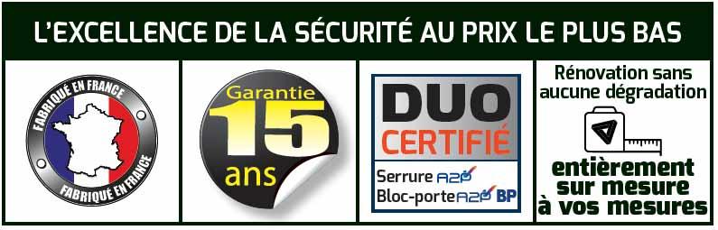 Promotion Blindage de porte Valente Securystar à Paris